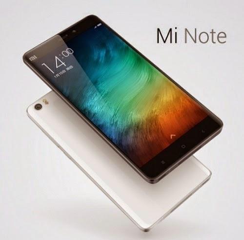 Spesifikasi HP Xiaomi Mi Note dan Harga Terbaru 2015