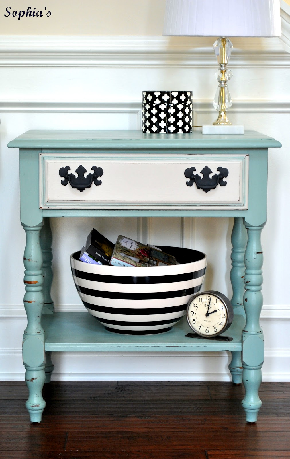 duck egg blue nightstand