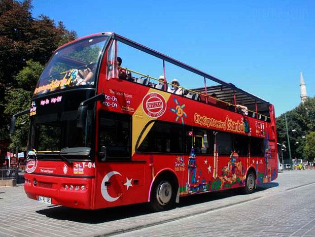 foto Bus Tingkat Tanpa Atap