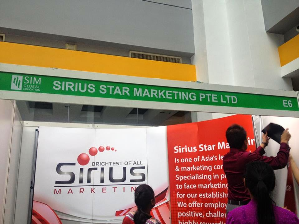 Sirius Star Marketing at SIM Clementi Campus for SIM Global Job Fair