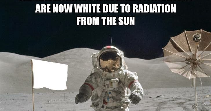The American Flags On The Moon Are White Due To Radiation Dr Heckle