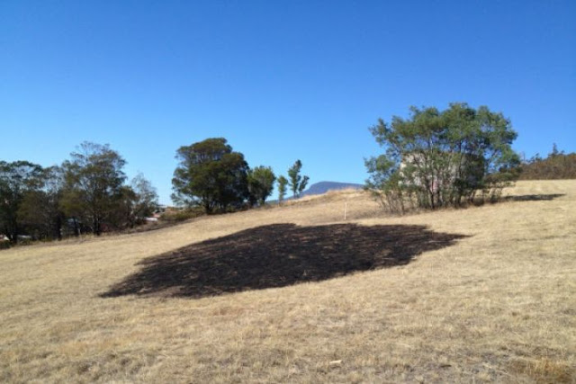 Mysterious light blamed for circle of fire