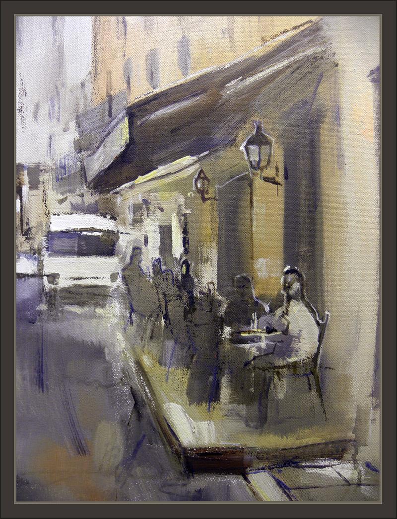 Venta pintura pintor ernest descals sitges pintura barcelona calles carrers modernismo - Pintores de barcelona ...