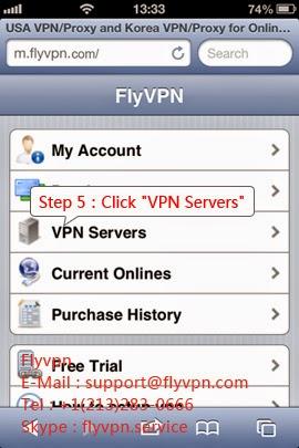 Le quatrième image du méthode d'utiliser le VPN gratuitement sur iphone/ipad.