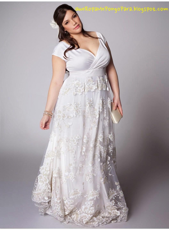 MODELOS DE VESTIDOS DE NOVIA PARA GORDITAS - Que ropa me pongo para mi boda