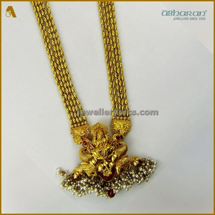 abharan long chain in gold