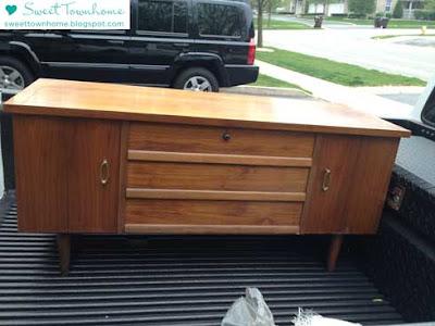 Craigslist Dresser DIY at SweetTownhome