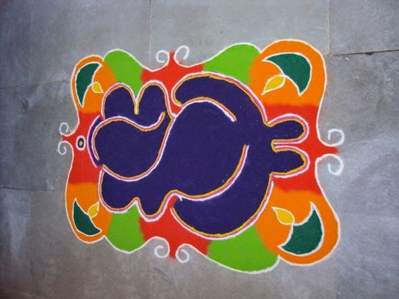 beautiful ganpati rangoli design
