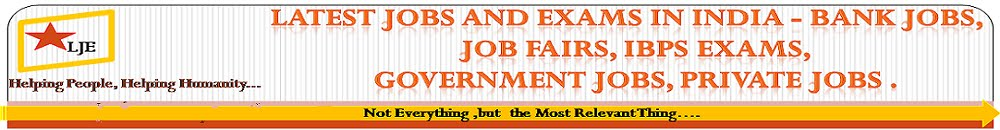 Latest Jobs and Exams in India - Bank Jobs, Job Fairs, IBPS Exams, Government Jobs, Private Jobs .