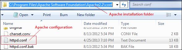 PHP Apache Configuration File