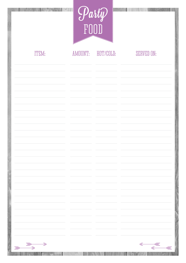 FREE PRINTABLE PARTY ENTERTAINING PLANNERS PART 1 eliza ellis – Free Party Planner Template