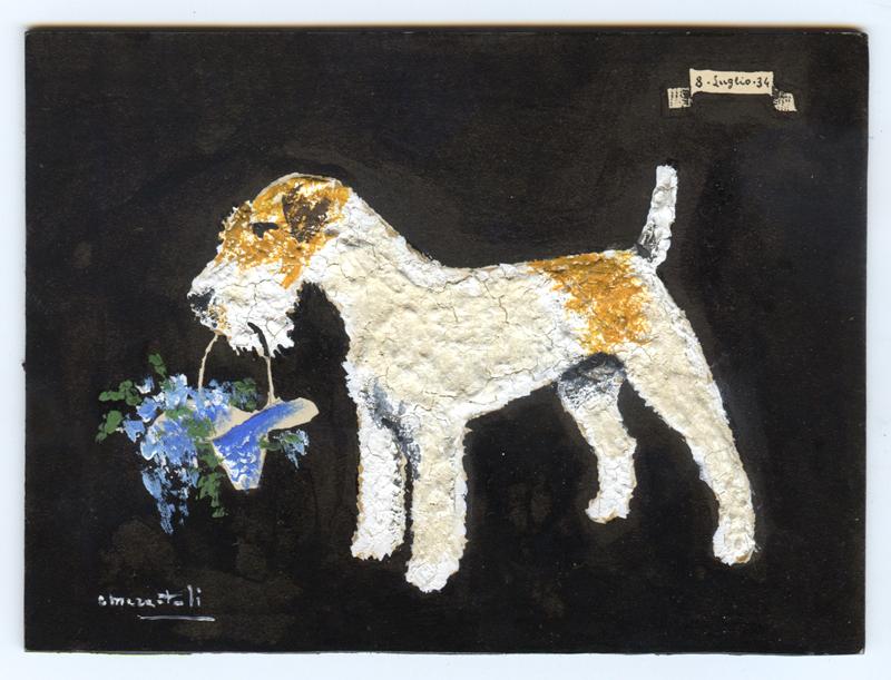 VINTAGE RIPRODUZIONE Scottie Dog /& Terrier ECONOMIA design pattern