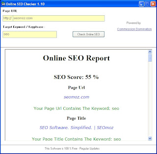 Click to view Online SEO Checker 10 screenshot