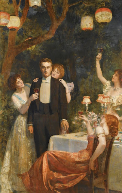 Garden Party,John Collier,cute painting