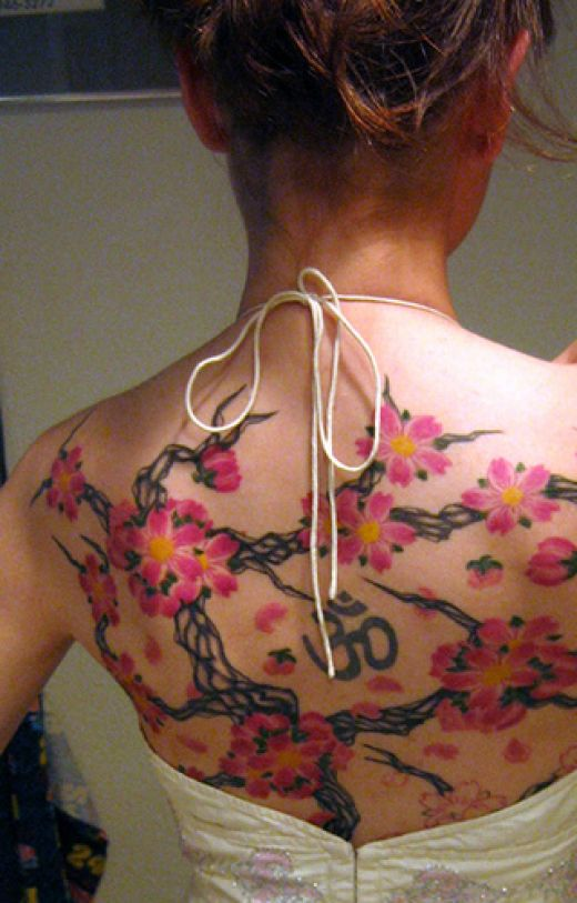 female tattoos on back