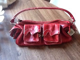 rare red evisu handbag