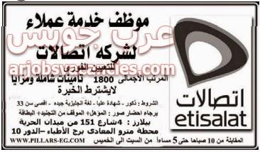وظائف شركة الاتصلات وظائف خالية فى القاهرة