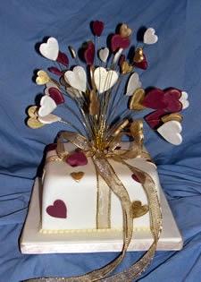 Detalles, Pastel de Bodas, Corazones