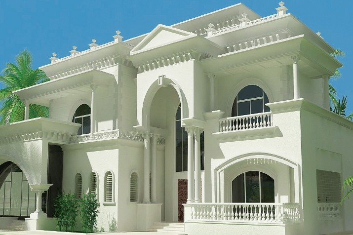 India kerala and international villa pictures abu dhabi for Modern house uae