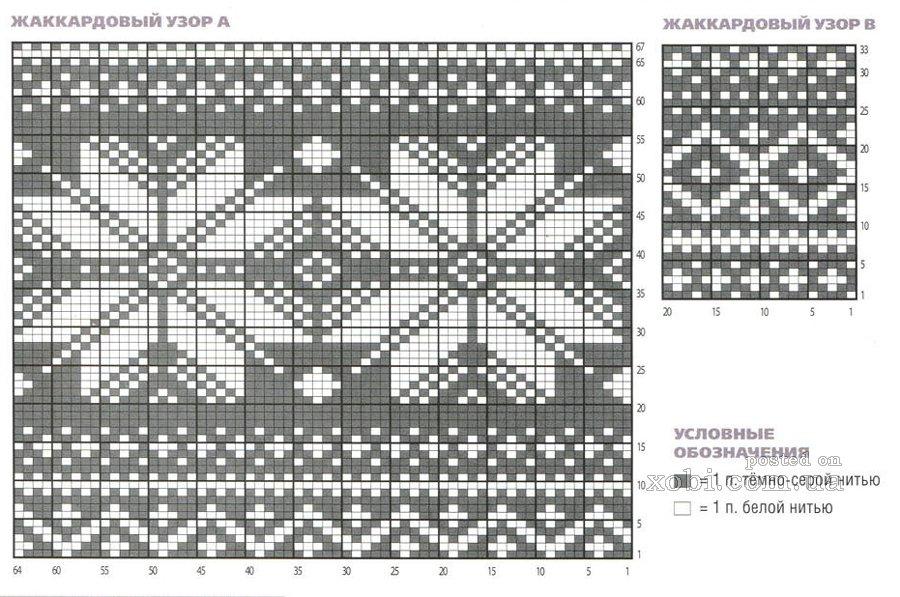 Орнаменты для вязания свитеров 50