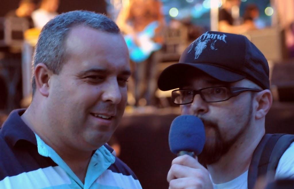 O presidente da Câmara de Vereadores, Maurício Lopes, e Luciano Zimbrão