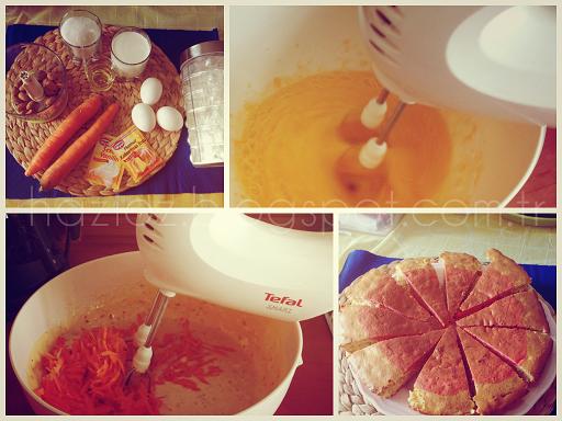 havuçlu kek yapımı