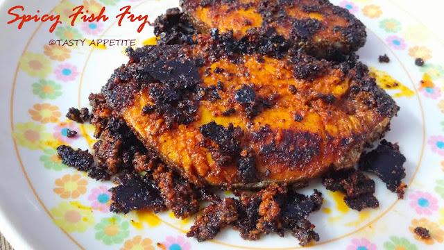 Vanjaram fish fry recipe king fish fry seer fish fry for King fish recipe