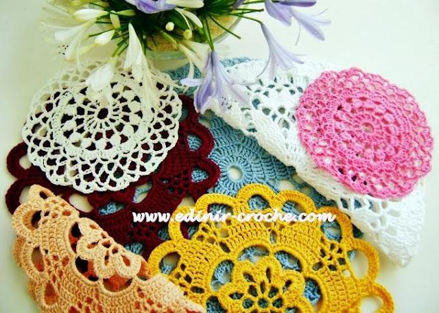toalhas em croche da coleção aprendi e ensinei com edinir-croche dvd video-aulas blog loja frete gratis