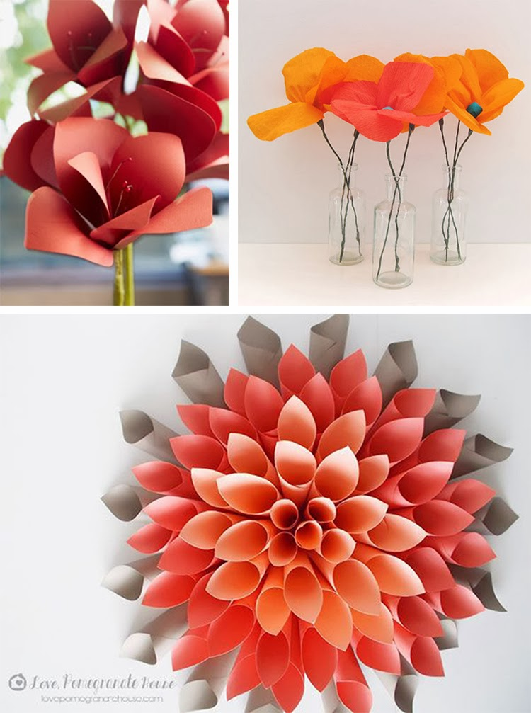Diy monday flowers cactus ohoh blog diy paper amaryllis the house that lars built poppy paper flower tutorial mightylinksfo Image collections