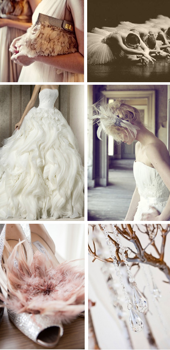7 Swans a Swimming Wedding Inspiration Board