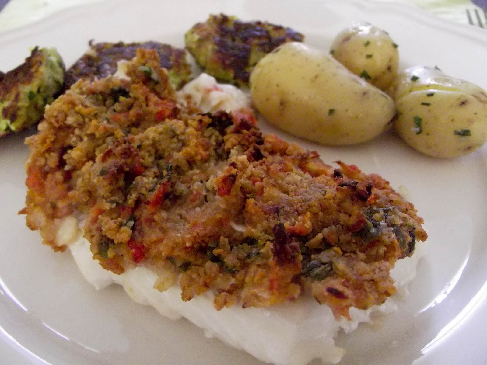 Dos De Cabillaud En Croute De Basilic Et Noix De Pecan