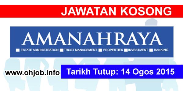 Jawatan Kerja Kosong Amanah Raya Berhad logo www.ohjob.info ogos 2015