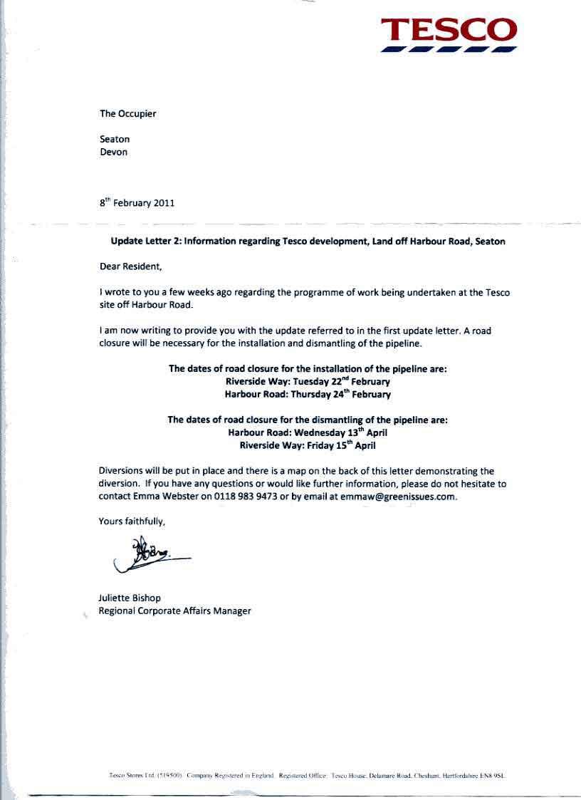 closure letter