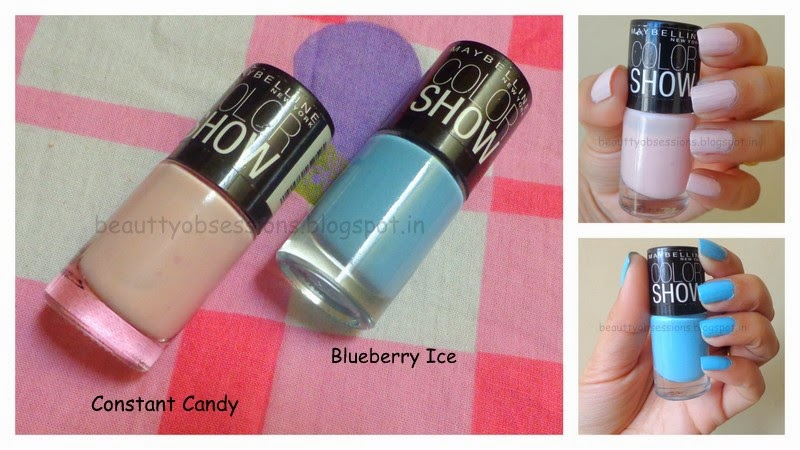 "Enjoy Pastel Shades with Maybelline ColorShow Nail Paint ""Constant Candy"" & ""Blueberry Ice"""