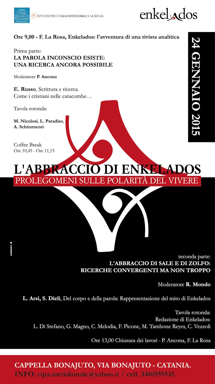 Riccardo mondo convegno rivista enkelados catania 24 for Mondo catania