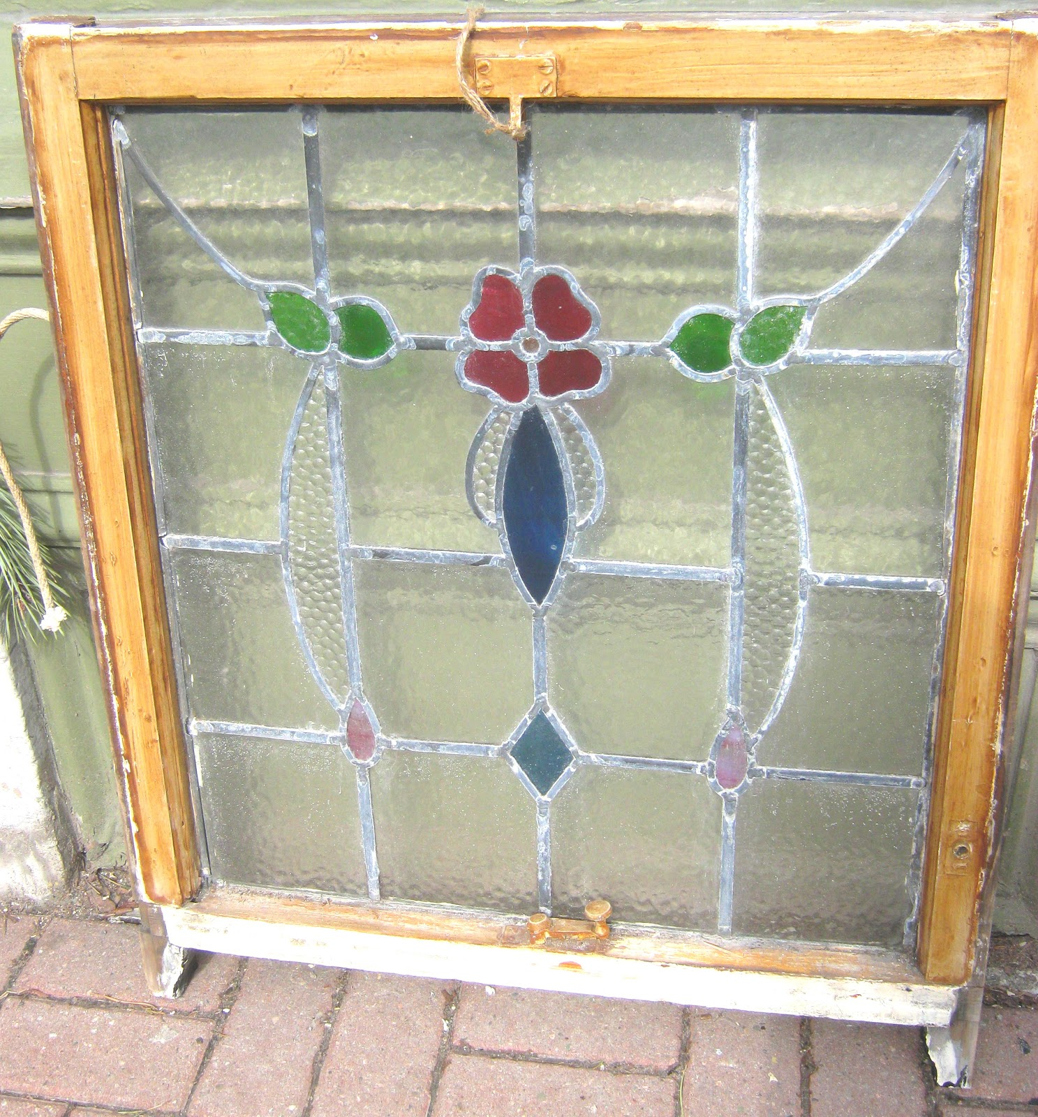 funk gruven a z stained glass window in frame 3 available