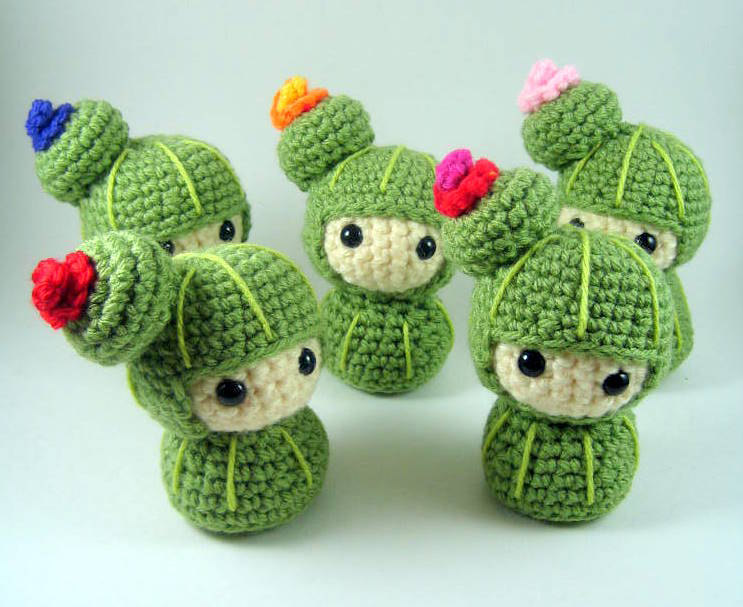 Amigurumi Cactus Pattern : out of the frame: Amigurumi Cacti