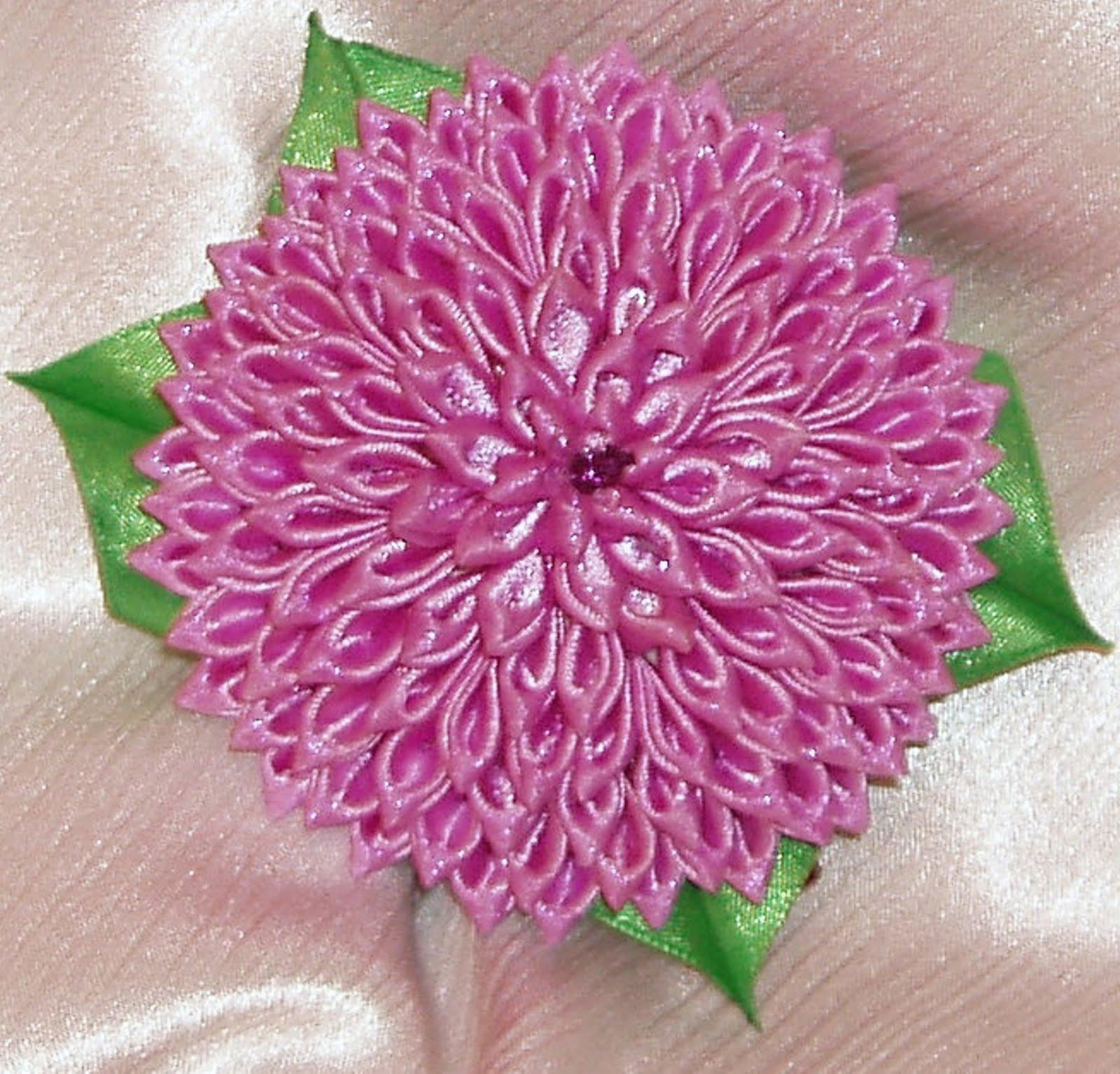 Цветок георгина из лент своими руками - Мастер 83
