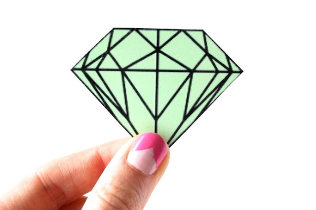shrinky dink diamond
