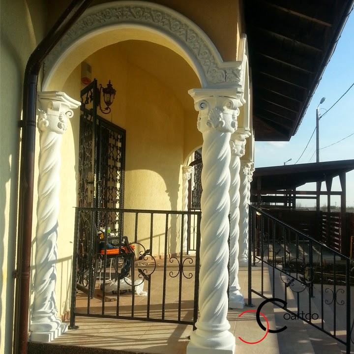 Coloane si Arcade din Polistiren, Fatada Casa Balotesti, Terasa in Stil Brancovenesc