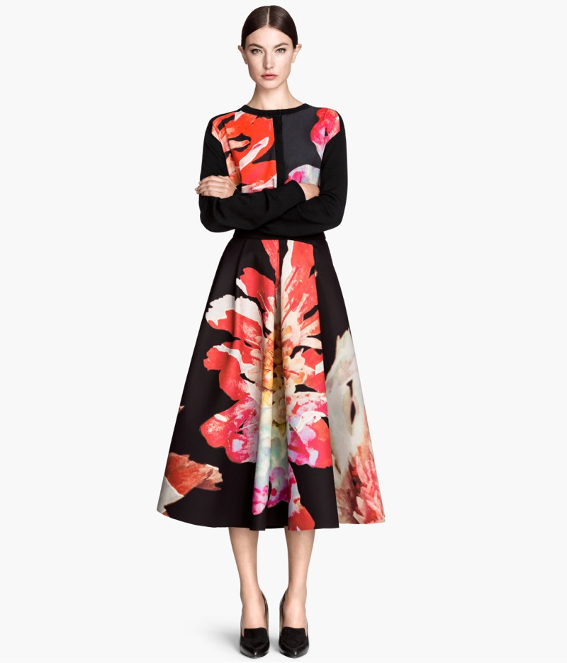 Lovely dress with flower pattern by HM