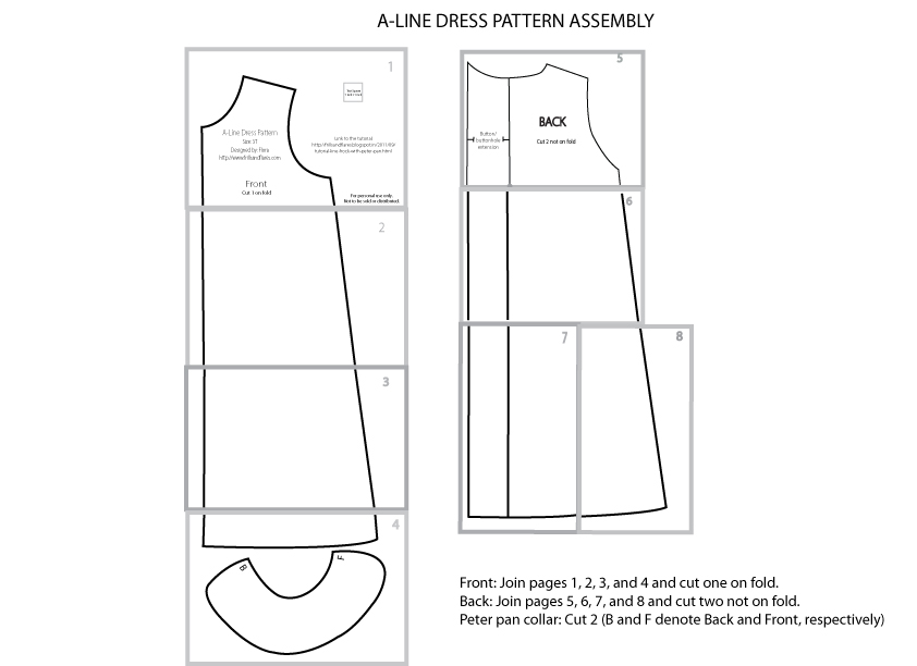 Frills and Flares: A-Line Dress Free Download -- Size 3T