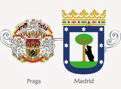 Escudos de Madrid y Praga