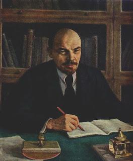 """""""Frases y citas revolucionarias"""" de Marx, Engels, Lenin, Che Guevara, Fidel Castro, Trotsky, otros autores ... A.+Michael.+Lenin+en+su+despacho+del+Kremlin."""