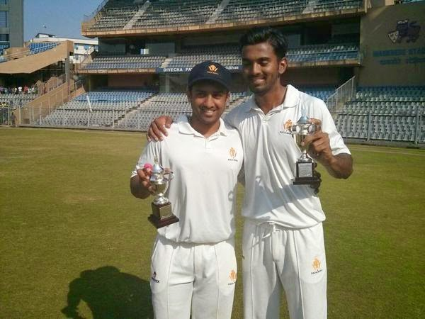 KL Rahul and Karun Nair - Ranji Trophy 2014-15 Final, Karnataka vs Tamil Nadu