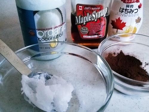 15分で作れる美味しい☆ココナッツオイルの生チョコ 材料