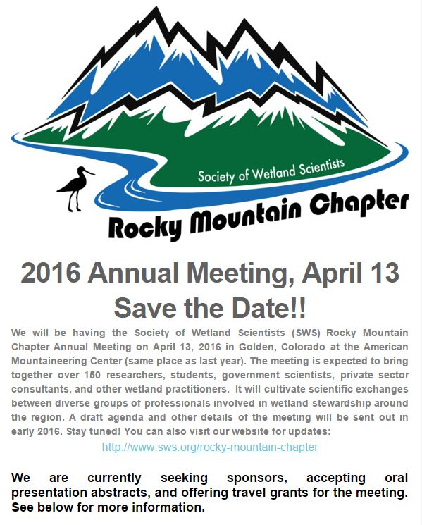 http://www.sws.org/Rocky-Mountain/rocky-mountain-chapter-events.html