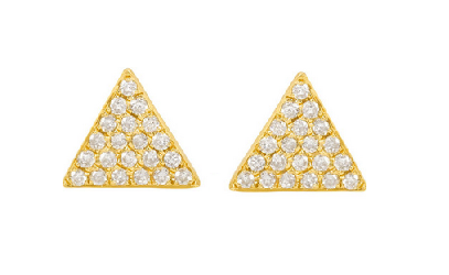 Anita Ko Triangle Pave Studs  Monica Viander Baja pave studs Jewellery Every Woman should own