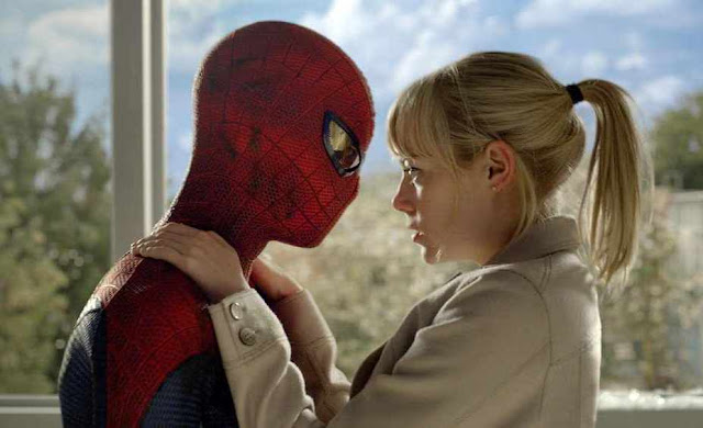 Andrew Garfield and Emma Stone in The Amazing Spider-Man 2012 Movie