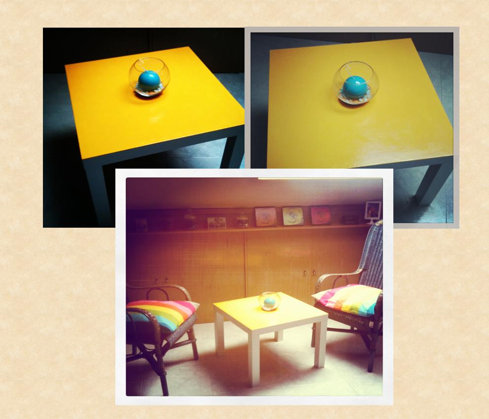 Bricolaje para pintar mesa lack de ikea